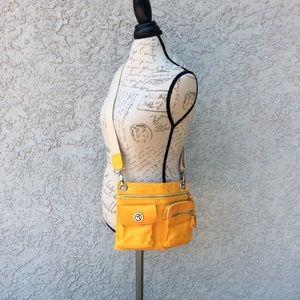 High Fashion Genuine Leather Orange Crossbody Bag
